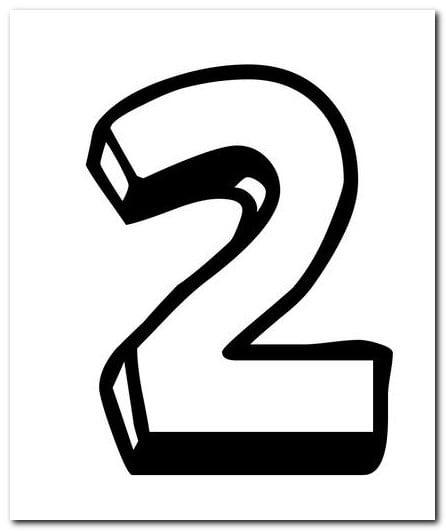 2 Iki Sayısı Rakamı Boyama Sayfaları Yucex