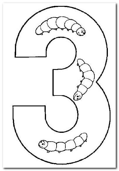 3 üç Sayısı Rakamı Boyama Sayfaları Yucex