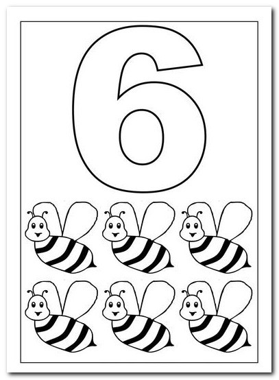 6 Alti Sayisi Rakami Boyama Sayfalari Yucex