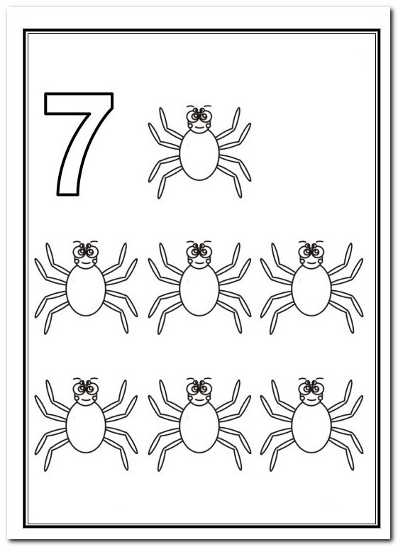 En Iyi Secilen 7 Sayisi Boyama Sayfasi En Iyi Boyama Cocuk Kitabi