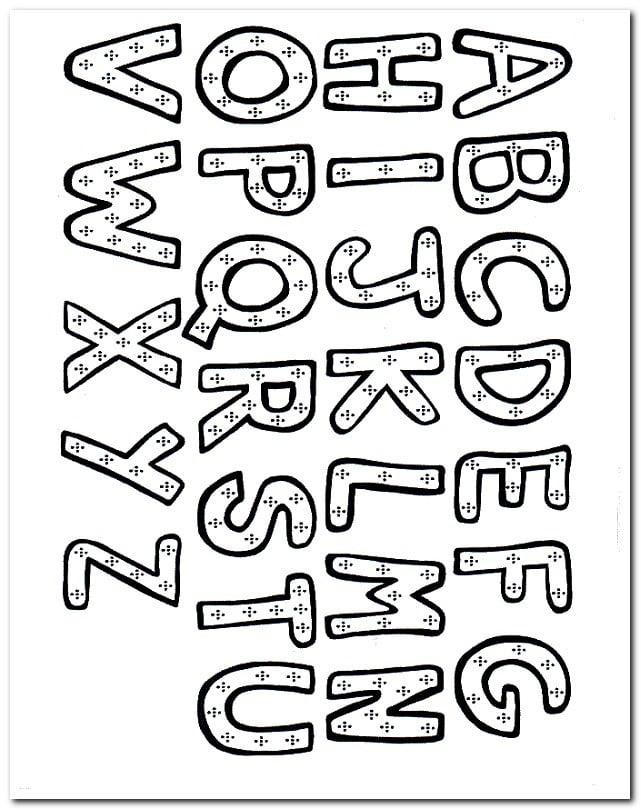 Harf Alfabe Boyama Sayfaları Yucex