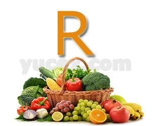 R harfiyle başlayan bitkiler sebzeler ve meyveler