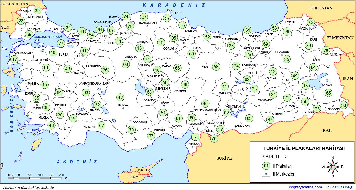 Turkiye 81 Il Sehir Listesi Yucex